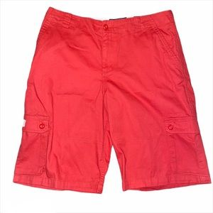 Coral Pink Cargo Shorts